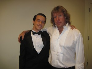 Nick Hazelbaker meets Keith Emerson backstage at the SkyPAC in Kentucky 2013.